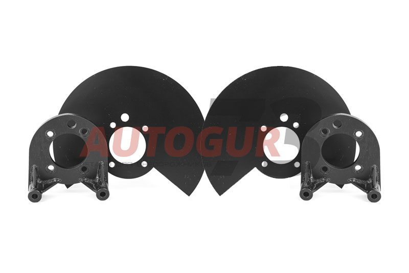 Комплект для установки заднего дискового тормоза ГАЗ 2217 Соболь (2 планшайбы + 2 щитка)