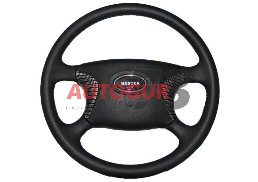 Руль УАЗ 315195 Хантер Делюкс (карбон)